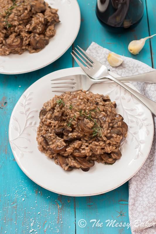 Mushroom Risotto from www.themessybakerblog.com