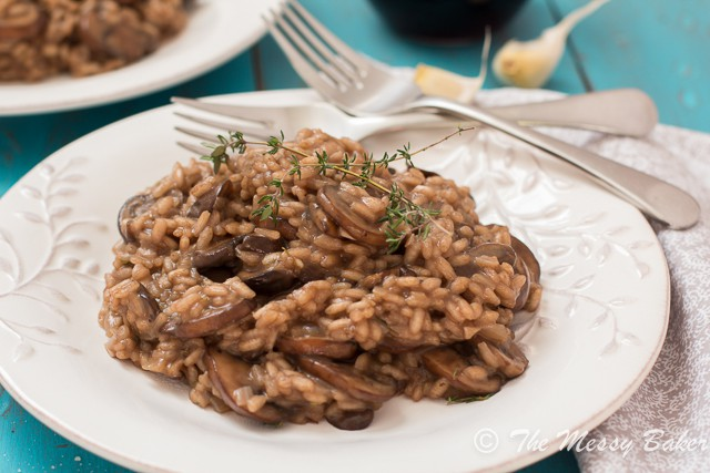Mushroom Risotto from www.themessybakerblog.com