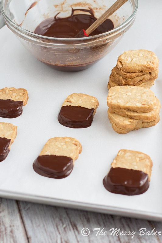 Toasted Almond Shortbread from www.themessybakerblog.com