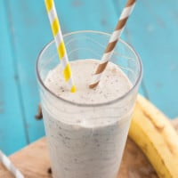 Skinny Banana Chip Smoothie from www.themessybakerblog.com