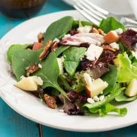 Winter Salad with Pomegranate Balsamic Vinaigrette from www.themessybakerblog.com