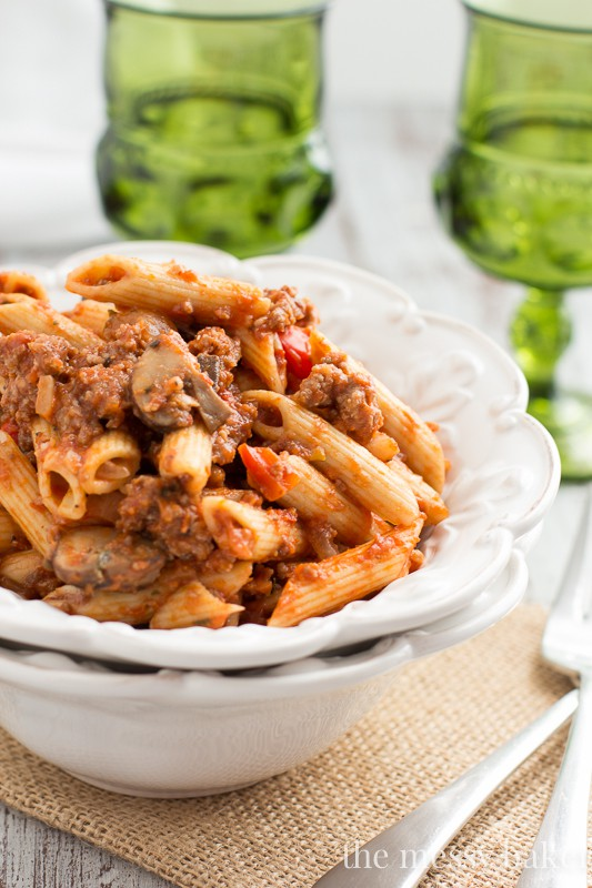 Penne with Sausage and Mushroom Ragu | For the Beef lover | Pinterest