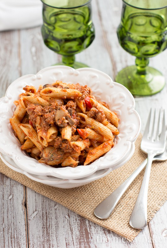 roast beef with wild mushroom penne pasta with meat sauce penne with ...