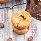 Butterscotch Chocolate Caramel Cookie Cups | www.themessybakerblog.com