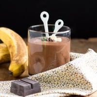 Chocolate Peanut Butter Banana Blender Pudding   www.themessybakerblog.com