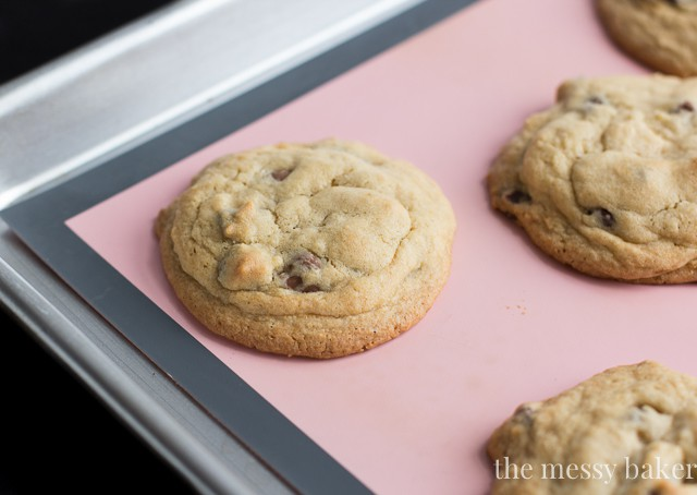 Soft Batch Triple Chocolate Cookies | www.themessybakerblog.com