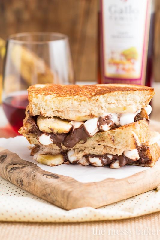 Funky Monkey Dessert Grilled Cheese   www.themessybakerblog.com