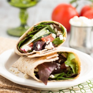 Greek Salad Wrap | www.themessybakerblog.com