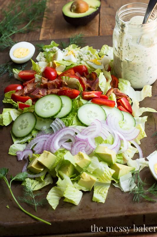Cobb Salad with Fresh Herbs   www.themessybakerblog.com