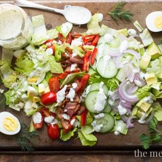 Cobb Salad with Fresh Herbs | www.themessybakerblog.com