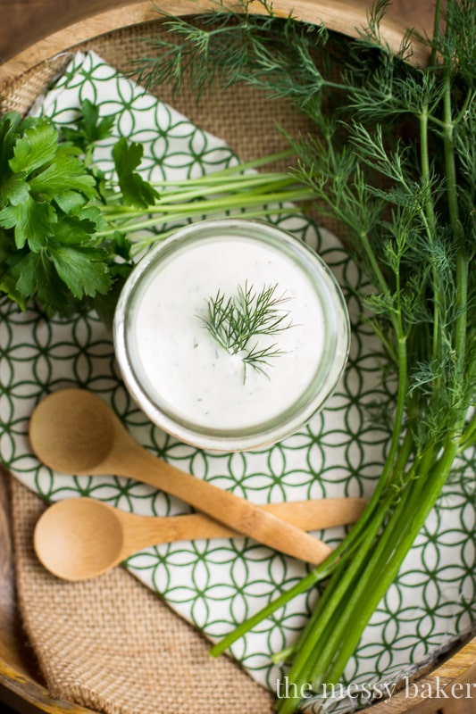 This dressing is tangy, creamy, and full of earthy herbs. Drizzle it ...