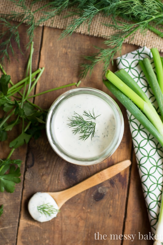 Homemade Buttermilk Ranch Dressing | www.themessybakerblog.com