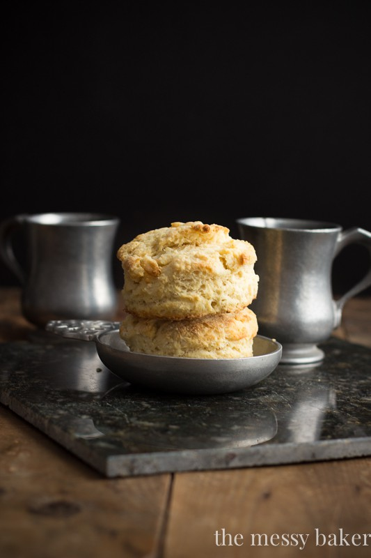 Mile-High Buttermilk Biscuits {A Tutorial} | www.themessybakerblog.com
