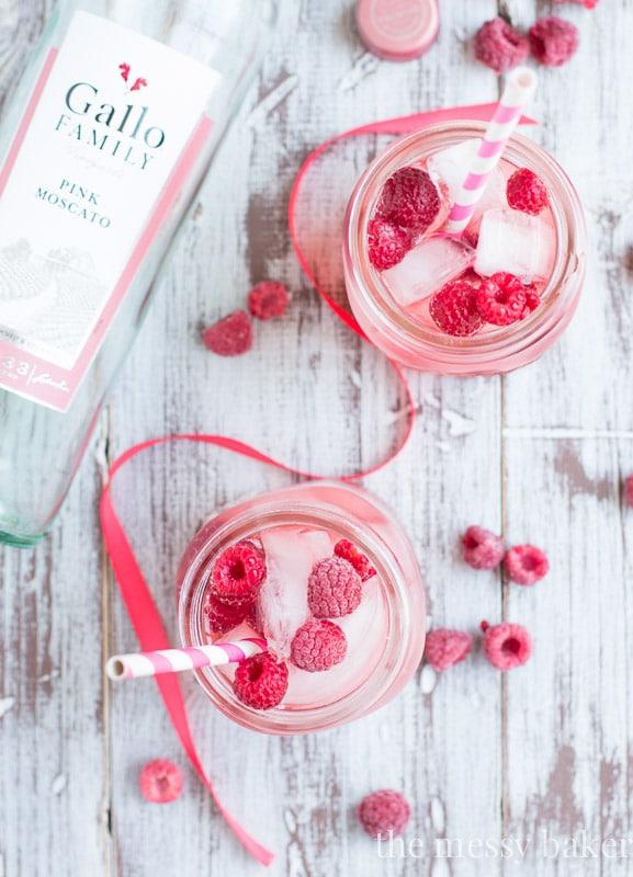 Raspberry Moscato Sangria