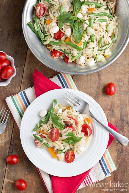Summer Orzo Pasta | www.themessybakerblog.com