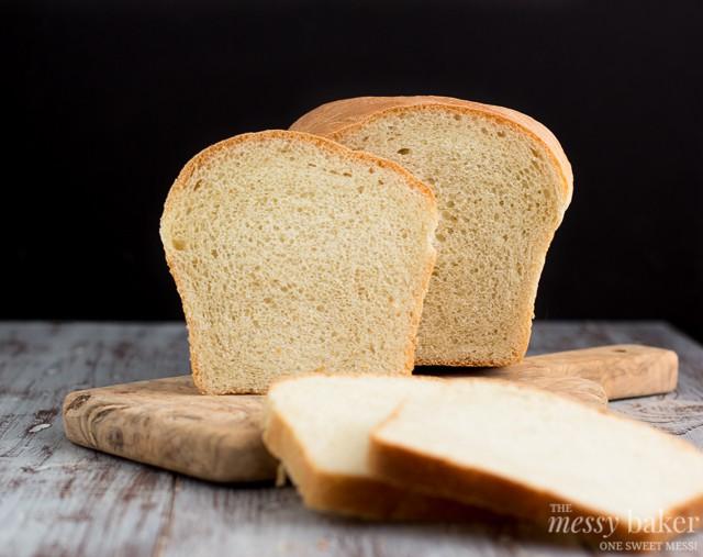 Simple White Bread   www.themessybakerblog.com