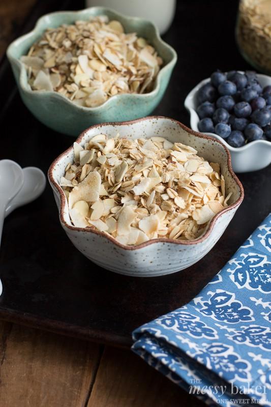 Toasted Coconut Muesli | www.themessybakerblog.com