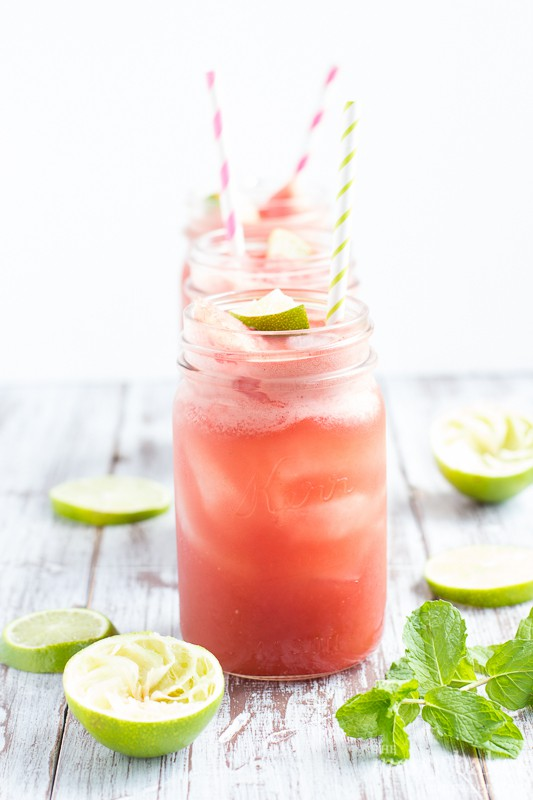 Watermelon Mint Cooler | www.themessybakerblog.com