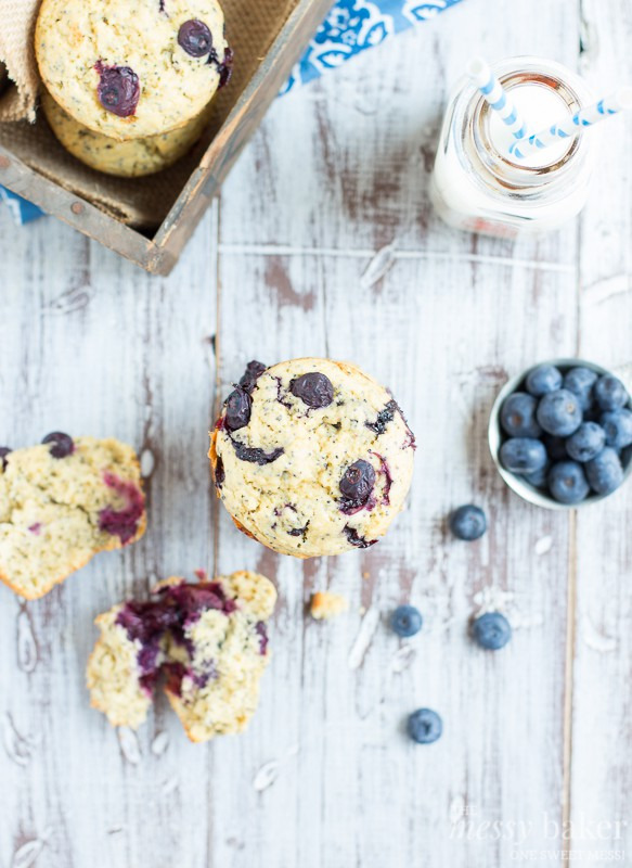 Blueberry Lemon Poppy Seed Muffins | www.themessybakerblog.com