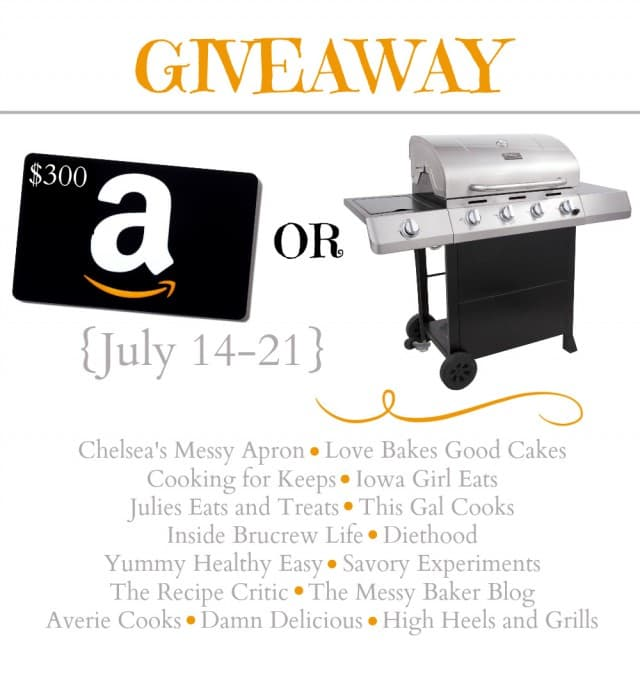 Summer Grill or $300 Amazon Giveaway | www.themessybakerblog.com