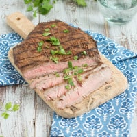 Grilled Tequila Chipotle Flank Steak | www.themessybakerblog.com