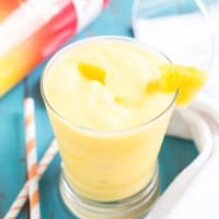 Pineapple Mango Slush Cocktail | www.themessybakerblog.com
