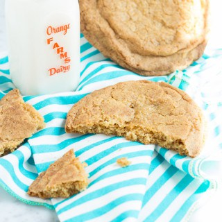 Brown Sugar Snickerdoodle Cookies (Giant-Sized)   www.themessybakerblog.com