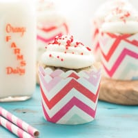 Cherry Chocolate Chip Cupcakes with Vanilla Bean Buttercream | www.themessybakerblog.com