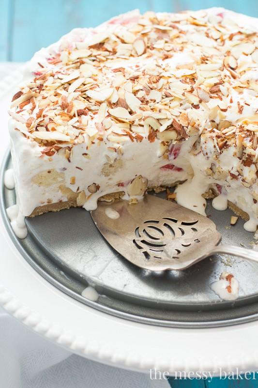 Strawberry Shortcake Ice Cream Pie   www.themessybakerblog.com