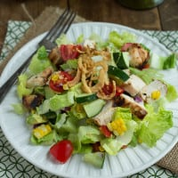 Tequila-Lime Chicken Chopped Salad | www.themessybakerblog.com