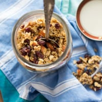 Cranberry Orange Granola | www.themessybakerblog.com