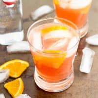 Cranberry Orange Spritzer Cocktail   www.themessybakerblog.com