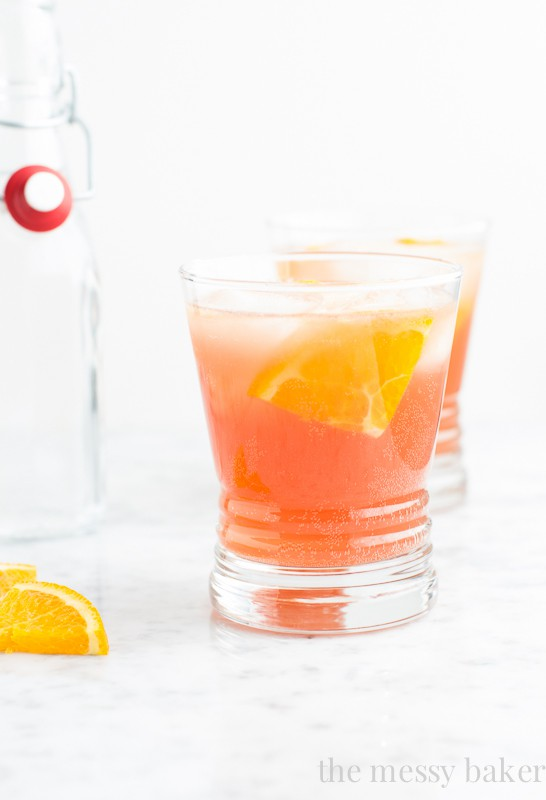 ... all of you pumpkin haters, this cranberry-orange spritzer is for you