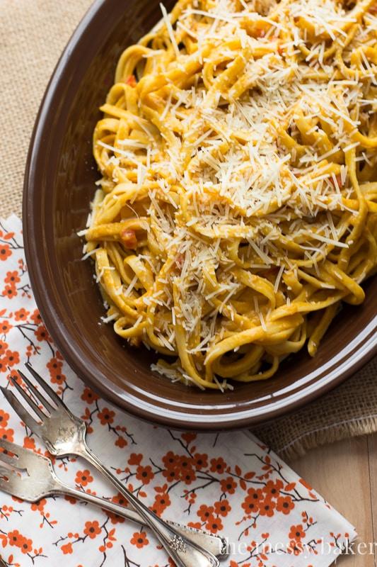 30-minute meal: Smoky Pumpkin Fettuccine Alfredo