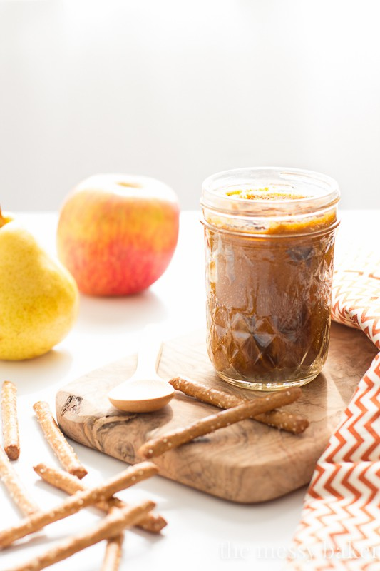 White Chocolate Pumpkin Almond Butter | www.themessybakerblog.com