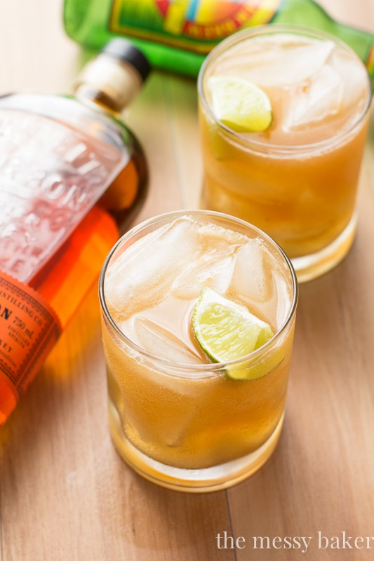 Apple Ginger Bourbon Cocktail
