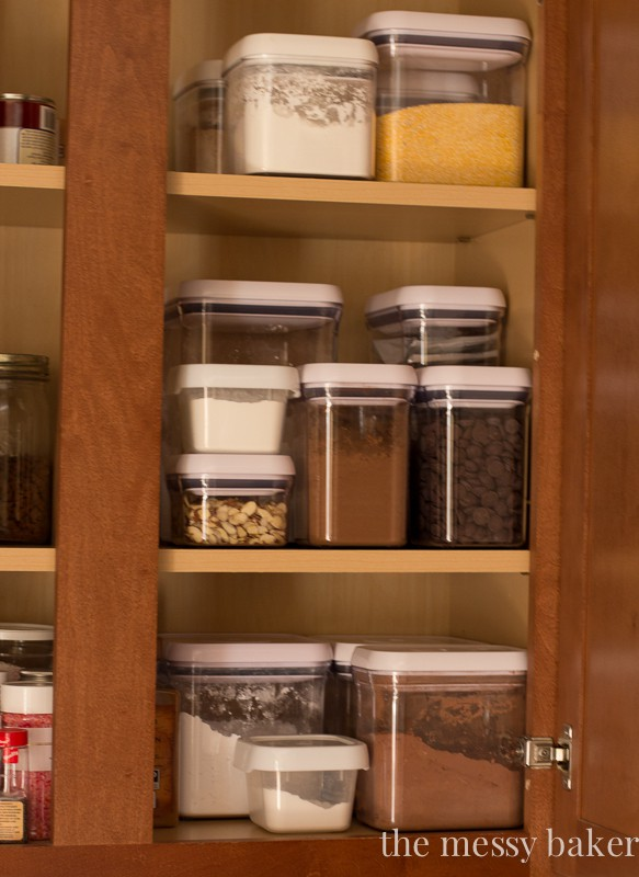 Pantry Oranization with Oxo POP Containers & The Container Store | www.themessybakerblog.com
