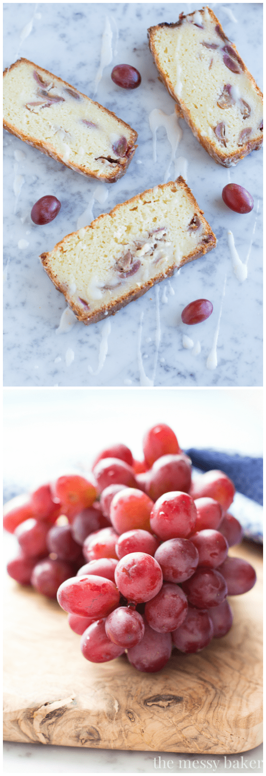 Ricotta Pound Cake with Grapes | www.themessybakerblog.com