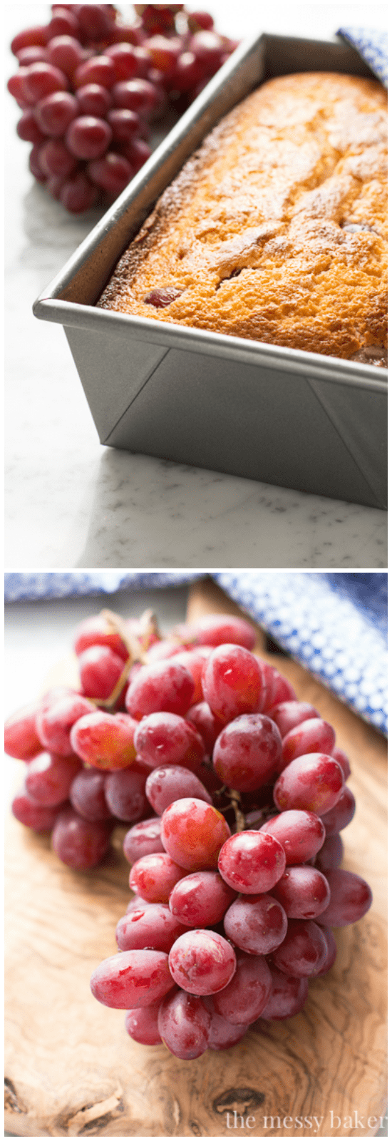 Ricotta Pound Cake with Grapes   www.themessybakerblog.com