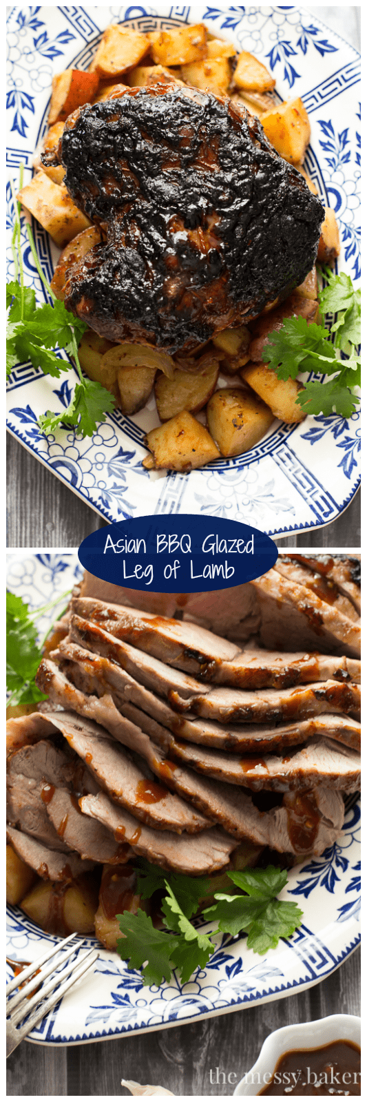 Asian BBQ Glazed Leg of Lamb | www.themessybakerblog.com