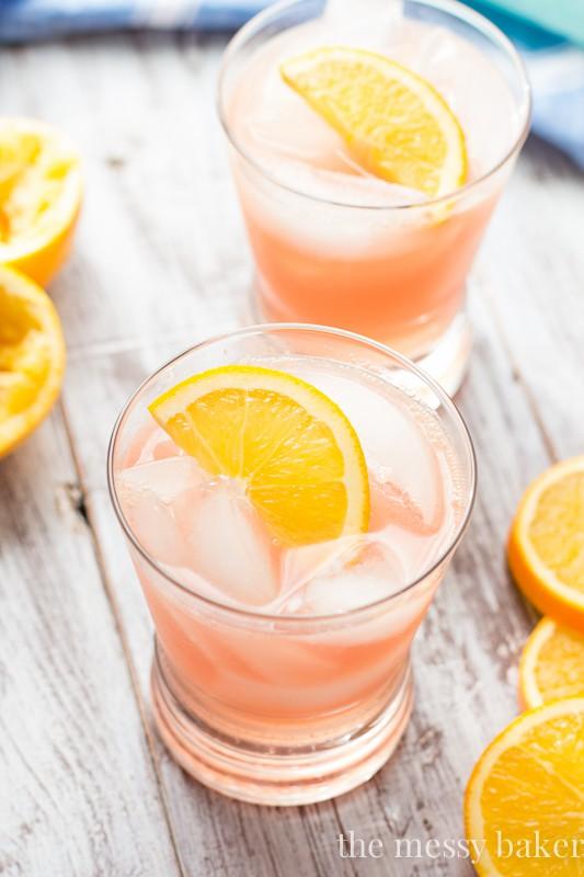 Cranberry Orange Crush Cocktail   www.themessybakerblog.com