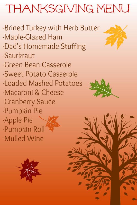 Thanksgiving Menu 2014 | www.themessybakerblog.com