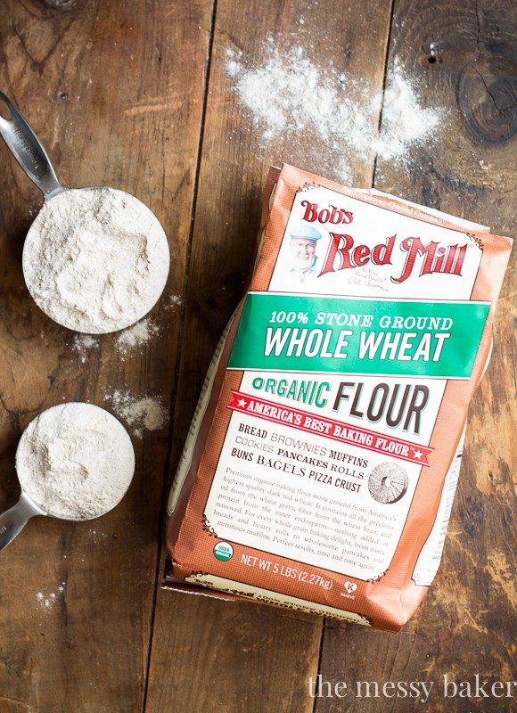 Bob's Red Mill Organic Whole Wheat Flour | www.themessybakerblog.com