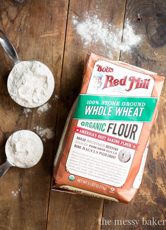 Bob's Red Mill Organic Whole Wheat Flour   www.themessybakerblog.com