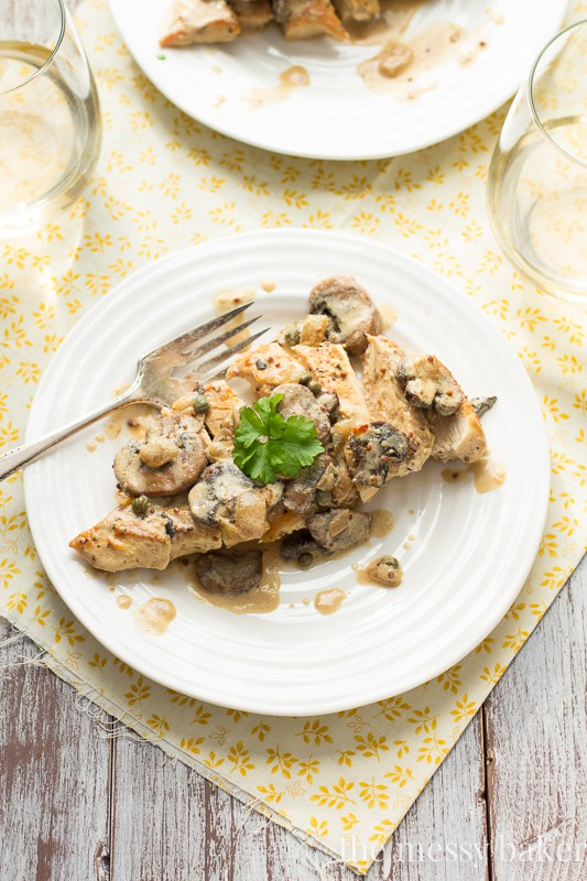 Creamy Dijon Chicken with Mushrooms | www.themessybakerblog.com