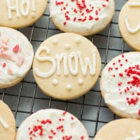 Gluten-Free Sugar Cookies with Peppermint Buttercream | www.themessybakerblog.com