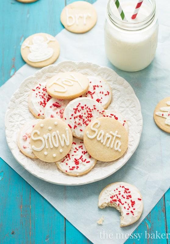 Gluten-Free Sugar Cookies with Peppermint Buttercream   www.themessybakerblog.com