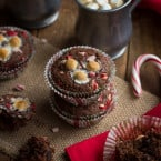 Hot Chocolate Peppermint Muffins | www.themessybakerblog.com