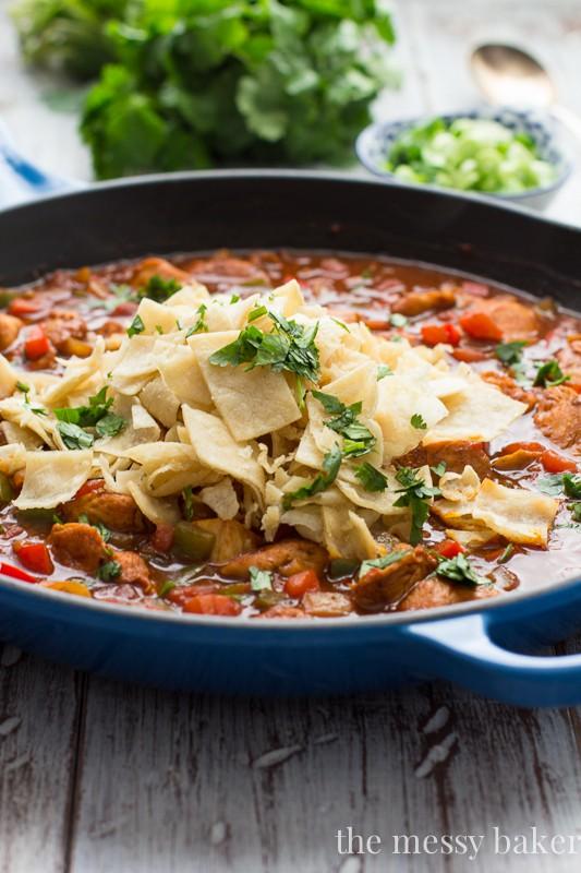 Chicken Enchilada Skillet | www.themessybakerblog.com