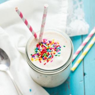 Healthy Funfetti Shake | www.themessybakerblog.com